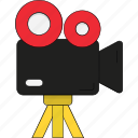 camcorder, device, handycam, video camera, video recording icon