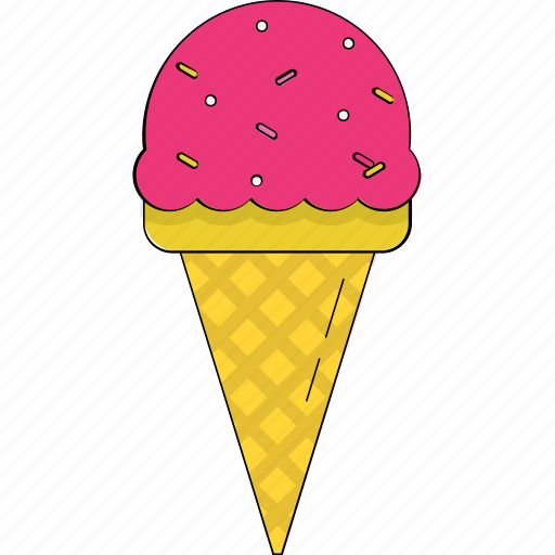 Cone, frozen dessert, ice cone, ice cream, snow cone, sorbet, sundaes cone icon - Download on Iconfinder