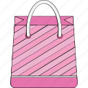 bag, heart, shopper bag, shopping, shopping bag icon
