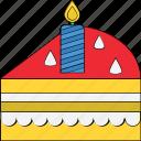 bakery food, cake piece, dessert, food, sweet icon