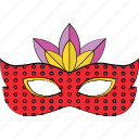 carnival mask, costume mask, eye mask, mardi gras mask, theater mask icon