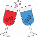 alcohol, champagne, cheers, toasting, wine glass icon