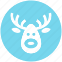 alaska, christmas, deer, deer face, face, santa icon