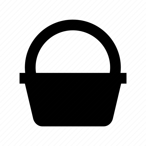 basket, hamper, hand basket, picnic basket, shopping basket icon