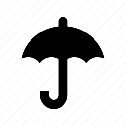 open umbrella, parasol, rain accessory, sunshade, umbrella icon