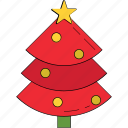 christmas, christmas tree, fir tree, nature, pine tree, tree icon
