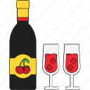 alcohol, champagne bottle, drink, drinking beer, glass, wine, wine glasses icon