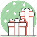 christmas, concept, gift, happy, new year icon