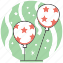 balloon, birthday, celebration, christmas, concept, new year, party icon