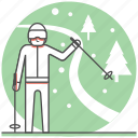 christmas, concept, holiday, holidays, new year, ski, winter icon