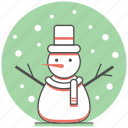 christmas, concept, holiday, new year, snow, snowman, winter icon
