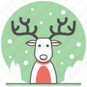 christmas, concept, deer, new year, reindeer, time, winter icon