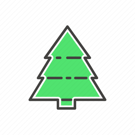 christmas, decoration, fir-tree, line, thin icon