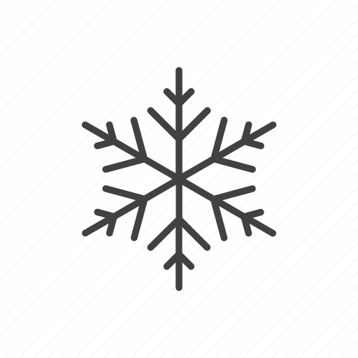 christmas, line, new year, snowflake, thin, winter icon