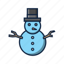 christmas, kids, playong, sculpture, snow, snowman, winter icon