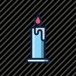 candle, christmas, church, light, pray, warm, winter icon