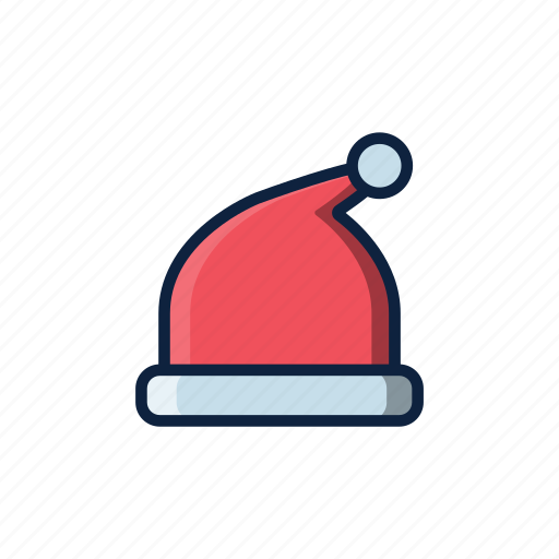christmas, hat, pink, santa, santa hat, winter icon