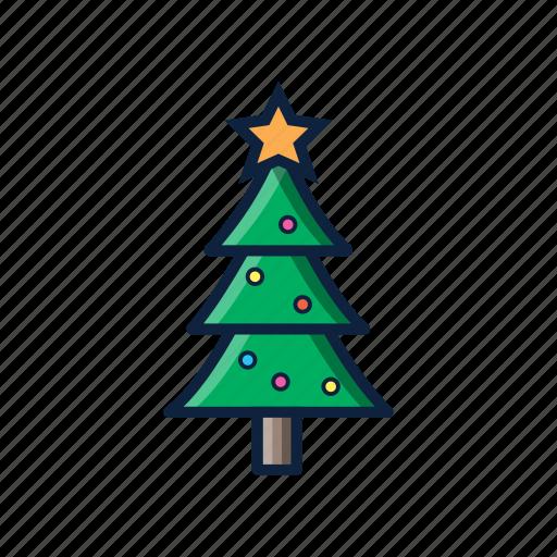 christmas, decoration, indoor, pine, tree, winter icon