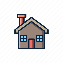 cabin, christmas, home, house, warm, winter, wood icon