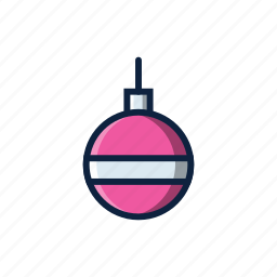 ball, christmas, decoration, winter icon