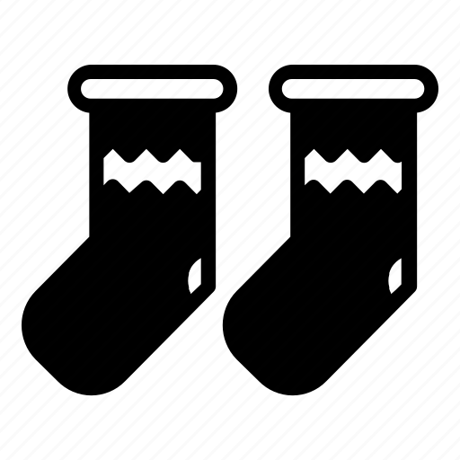 christmas, double, snow, socks, ui, winter icon