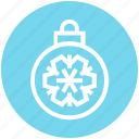 ball, bauble, christmas, christmas ball, decoration, holidays, snowflake icon