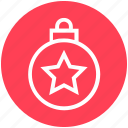ball, bauble, christmas, christmas ball, decoration, holidays, star icon