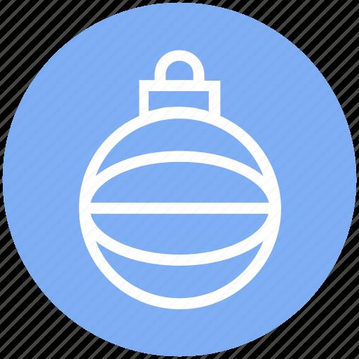 ball, bauble, christmas, christmas ball, decoration, holidays, party icon