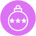 ball, bauble, christmas, christmas ball, decoration, holidays, stars icon