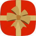 christmas, free, gift, ribbon, surprise icon