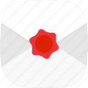 contact, e-mail, letter, mail, seal icon