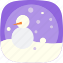 cold, globe, snow, snowman, weather icon