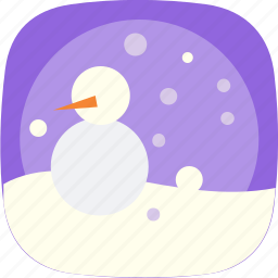 christmas, cold, globe, snow, snowman, weather icon