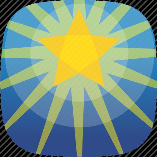 bookmark, guide, manger, shine, star icon