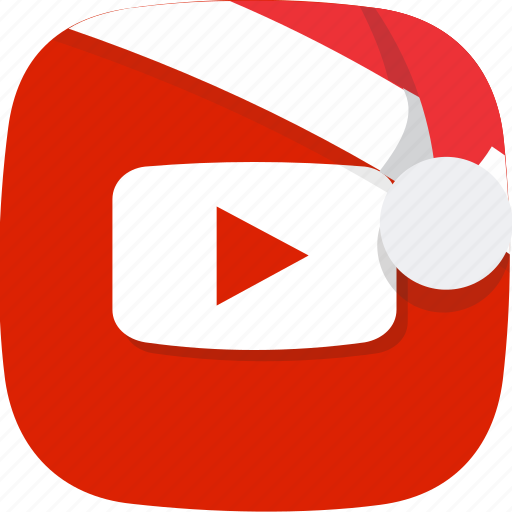 christmas, multimedia, santa, social, video, youtube icon