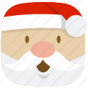 christmas, claus, father, kris-kringle, santa, winter, xmas icon