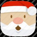 christmas, claus, father, kris-kringle, santa, winter, xmas icon