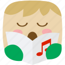 carol, caroler, music, musical, player, song, songs icon