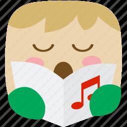 carol, caroler, music, player, songs icon