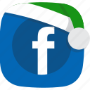 christmas, elves, facebook, network, santa, social, winter icon