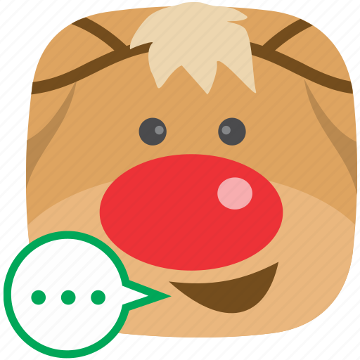 chat, communication, contact, feedback, reindeer, sms, talk icon