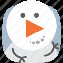media, music, player, snowman, video