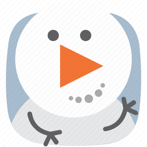 media, music, player, snowman, video icon