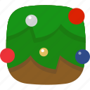 balls, christmas, decorate, holiday, theme, tree, xmas icon