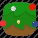 balls, christmas, decorate, theme, tree icon