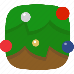 balls, christmas, decorate, theme, tree icon