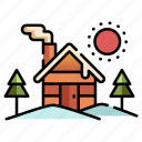 winter, house, christmas, place, xmas, cabin