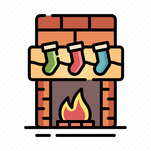 chimney, christmas, fire, fireplace, warm, winter, xmas icon