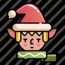 character, christmas, christmas elf, elf, xmas icon