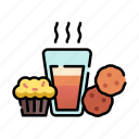brunch, christmas, cookies, dessert, muffin, sweets, xmas icon